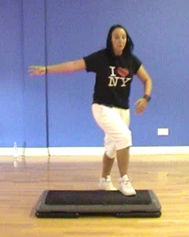 Lower Body Conditioning routines using the step with Nikkie Riozzi